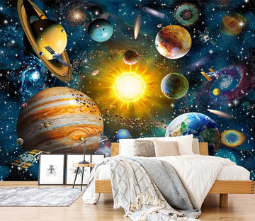 3D Cosmic Planet WC600 Wall Murals