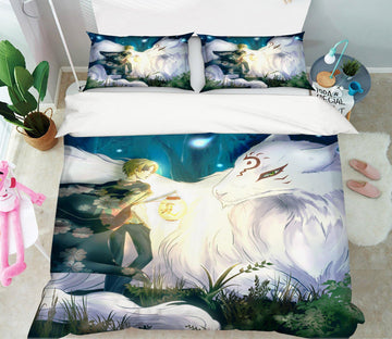 3D Natsume 13 Anime Bed Pillowcases Quilt