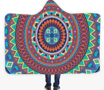 3D Color Circle 084 Hooded Blanket