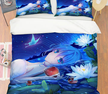 3D Hatsune Miku 44 Anime Bed Pillowcases Quilt
