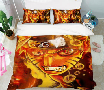 3D Naruto 7 Anime Bed Pillowcases Quilt