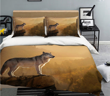 3D Wolf 2012 Bed Pillowcases Quilt