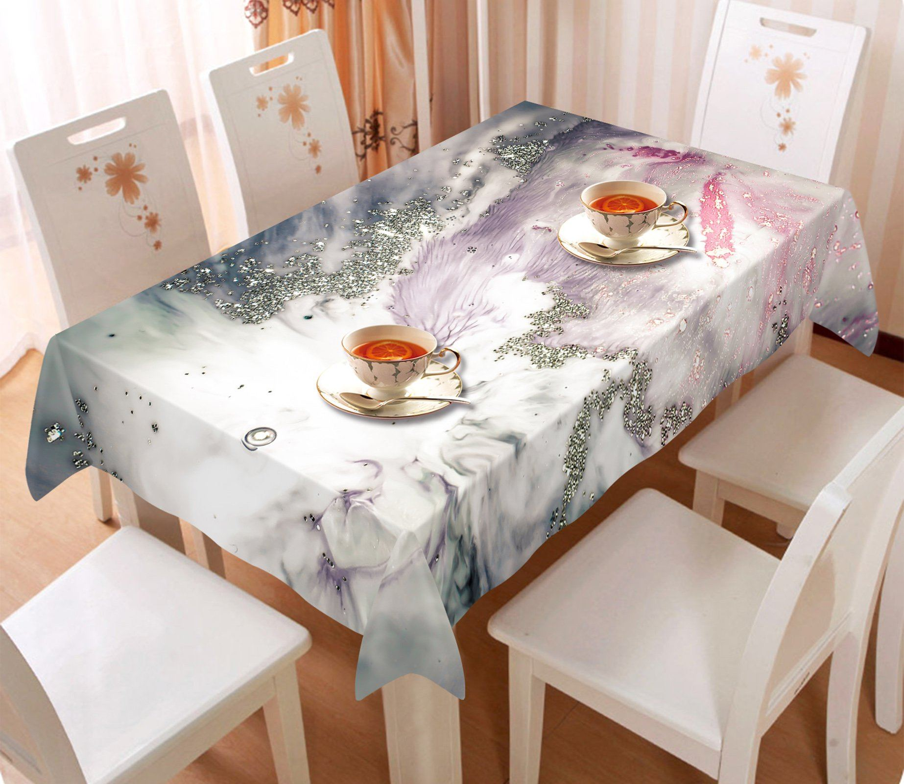 3D Silver Abstract Pattern 70 Tablecloths Wallpaper AJ Wallpaper