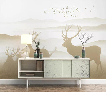 3D Forest Fawn 1704 Wall Murals