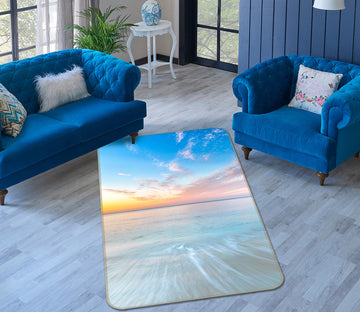 3D Sunset Sea 185 Assaf Frank Rug Non Slip Rug Mat