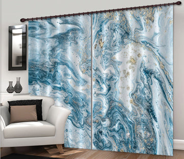 3D Abstract Turbulent Gradient 65 Curtains Drapes