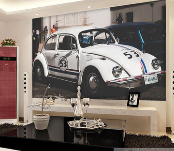 3D Automobile White 915 Vehicle Wall Murals Wallpaper AJ Wallpaper 2