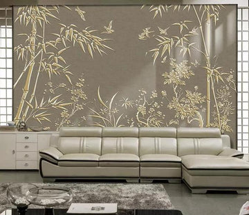 3D Bamboo Forest 1273 Wall Murals Wallpaper AJ Wallpaper 2