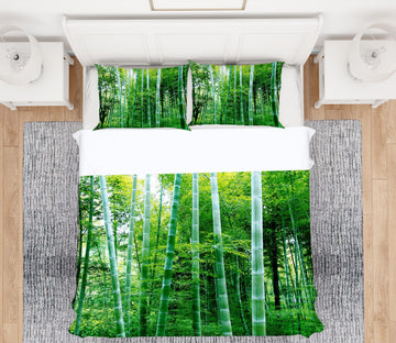 3D Bamboo Forest 13141 Bed Pillowcases Quilt
