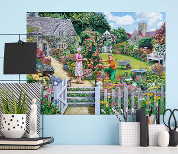 3D Tending A Cottage Garden 066 Trevor Mitchell Wall Sticker