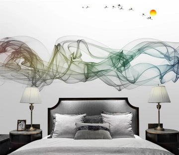 3D Green Gradient Ink WC875 Wall Murals