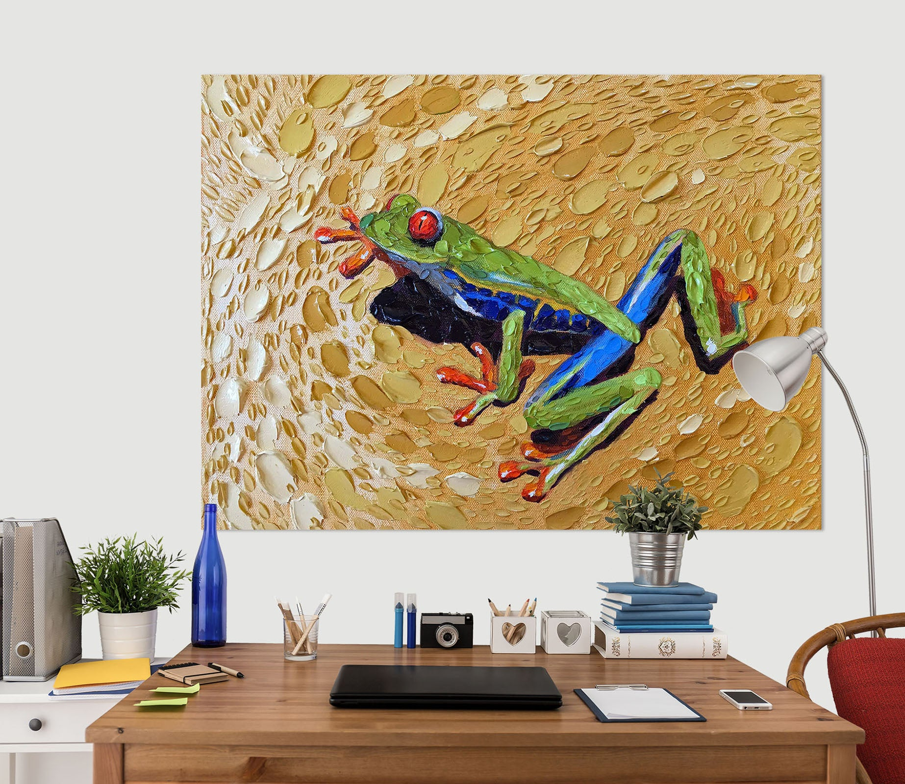 3D Toadly Awesome Frog 035 Dena Tollefson Wall Sticker