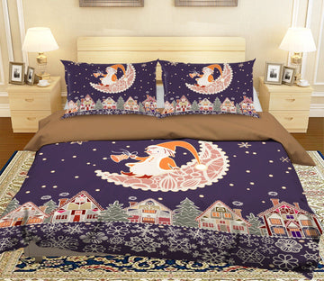 3D Christmas Lace Moon 39 Bed Pillowcases Quilt