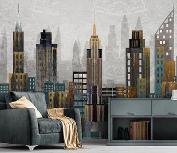 3D City Night 1117 Wall Murals
