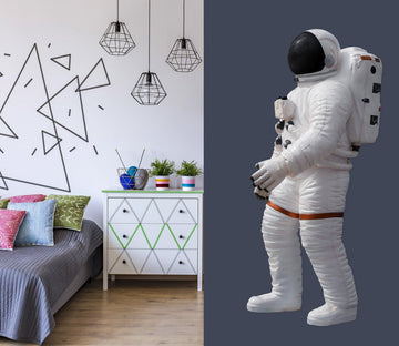 3D Scientist Astronaut 0234 Wall Stickers