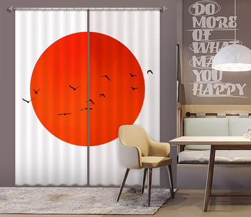 3D Big Red Sun 1109 Boris Draschoff Curtain Curtains Drapes