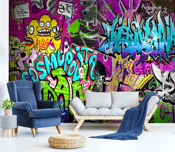 3D Graffiti 1512 Wall Murals
