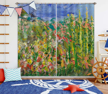 3D Abstract Garden 240 Allan P. Friedlander Curtain Curtains Drapes Curtains AJ Creativity Home
