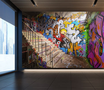 3D graffiti with stairs 39 Wall Murals