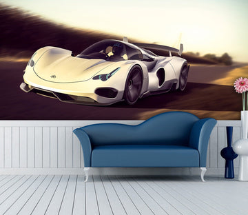 3D Supercar Road 970 Vehicle Wall Murals