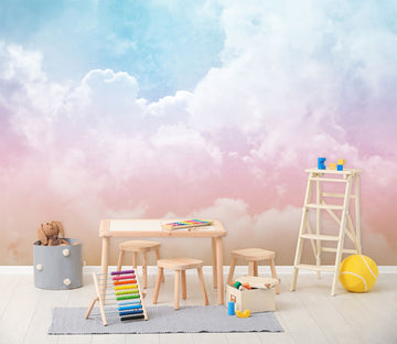 3D pink clouds 13 Wall Murals
