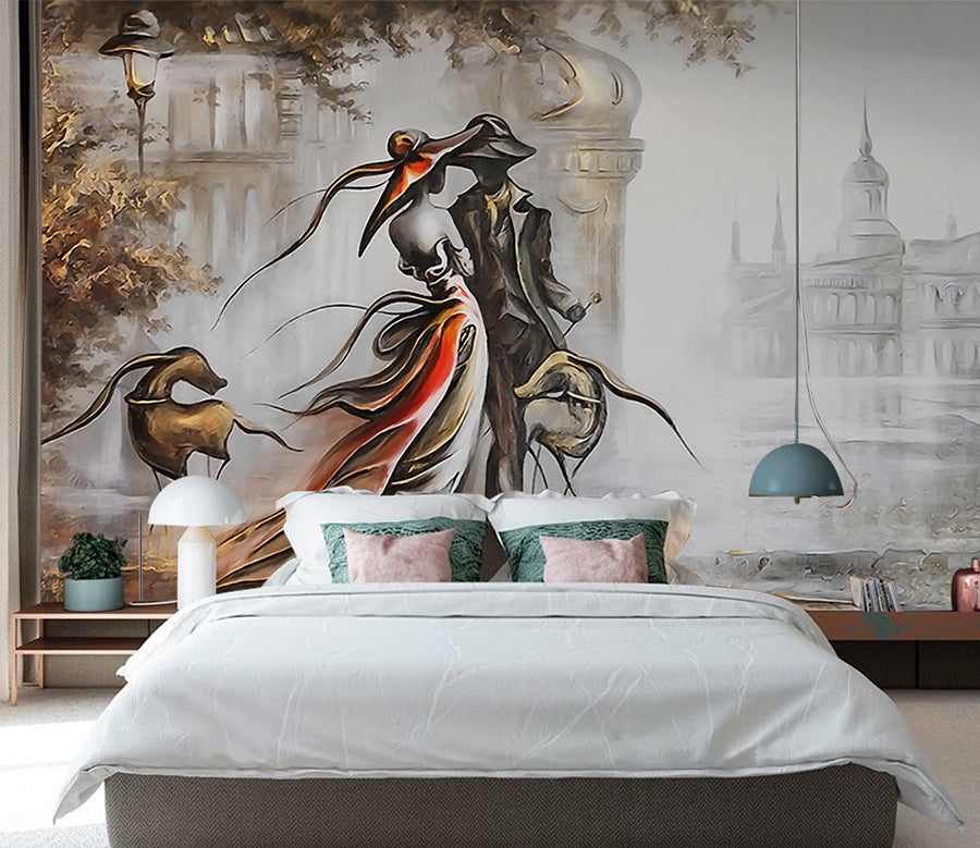 3D Castle Lovers WC039 Wall Murals