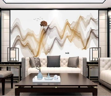 3D Color Wave 2396 Wall Murals