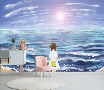 3D Girl Watching The Sea 455 Wallpaper AJ Wallpaper 2