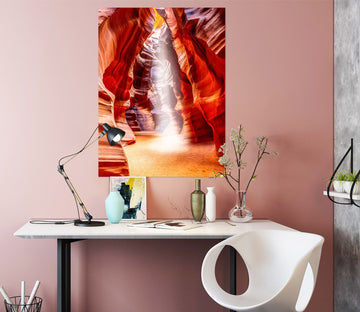 3D Red Canyon 236 Marco Carmassi Wall Sticker