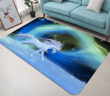 3D Galaxy Unicorn 81 Non Slip Rug Mat Mat AJ Creativity Home