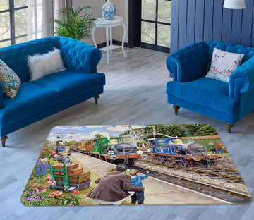 3D The Bluebell Railway 1107 Trevor Mitchell Rug Non Slip Rug Mat