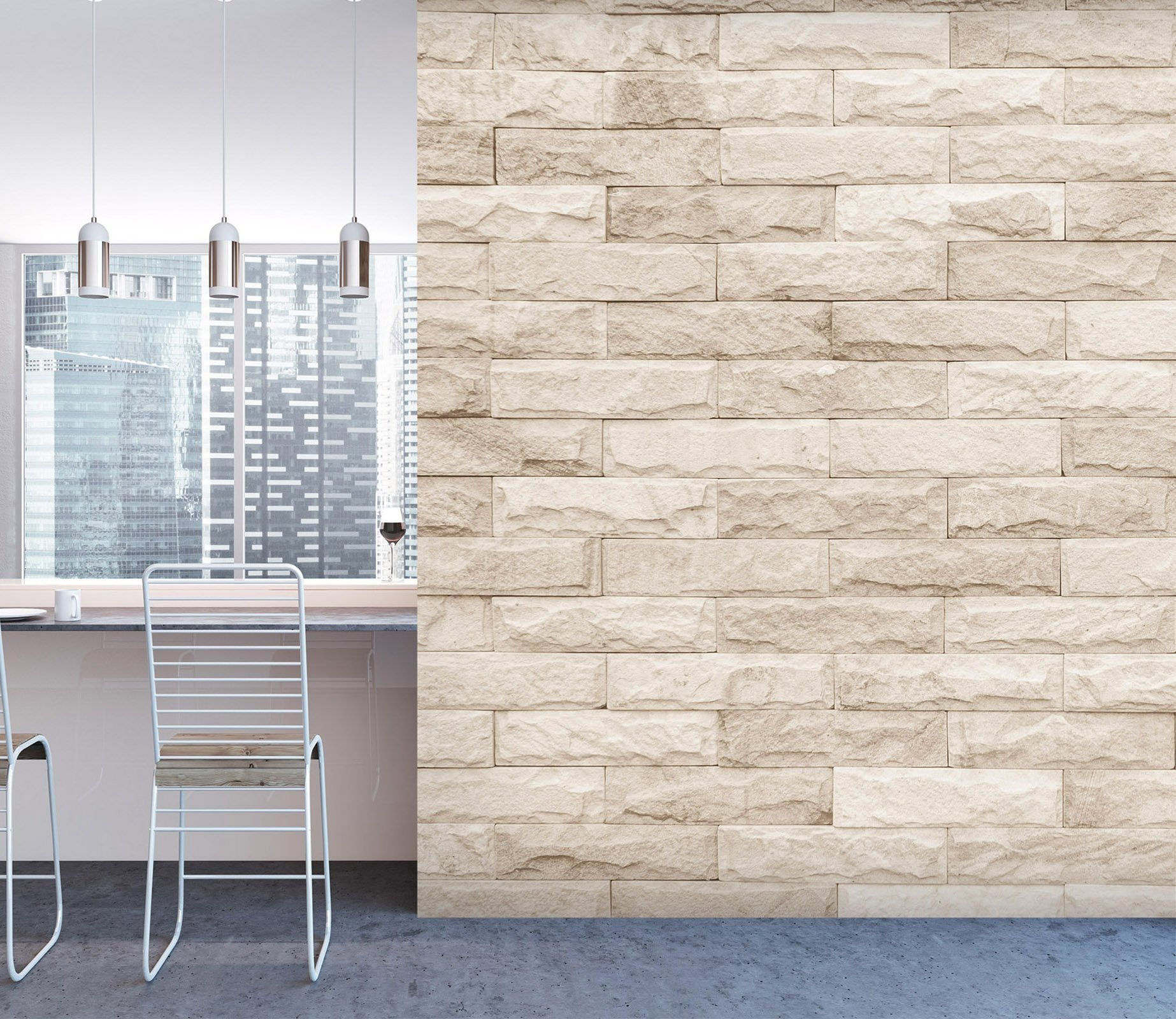 3D Stereoscopic Brick Wall 072 Marble Tile Texture Wallpaper AJ Wallpaper 2
