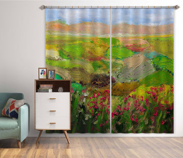 3D Abstract Painting 238 Allan P. Friedlander Curtain Curtains Drapes Curtains AJ Creativity Home