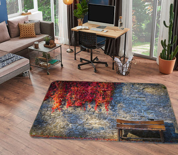 3D City Wall Maple Leaf 1171 Marco Carmassi Rug Non Slip Rug Mat