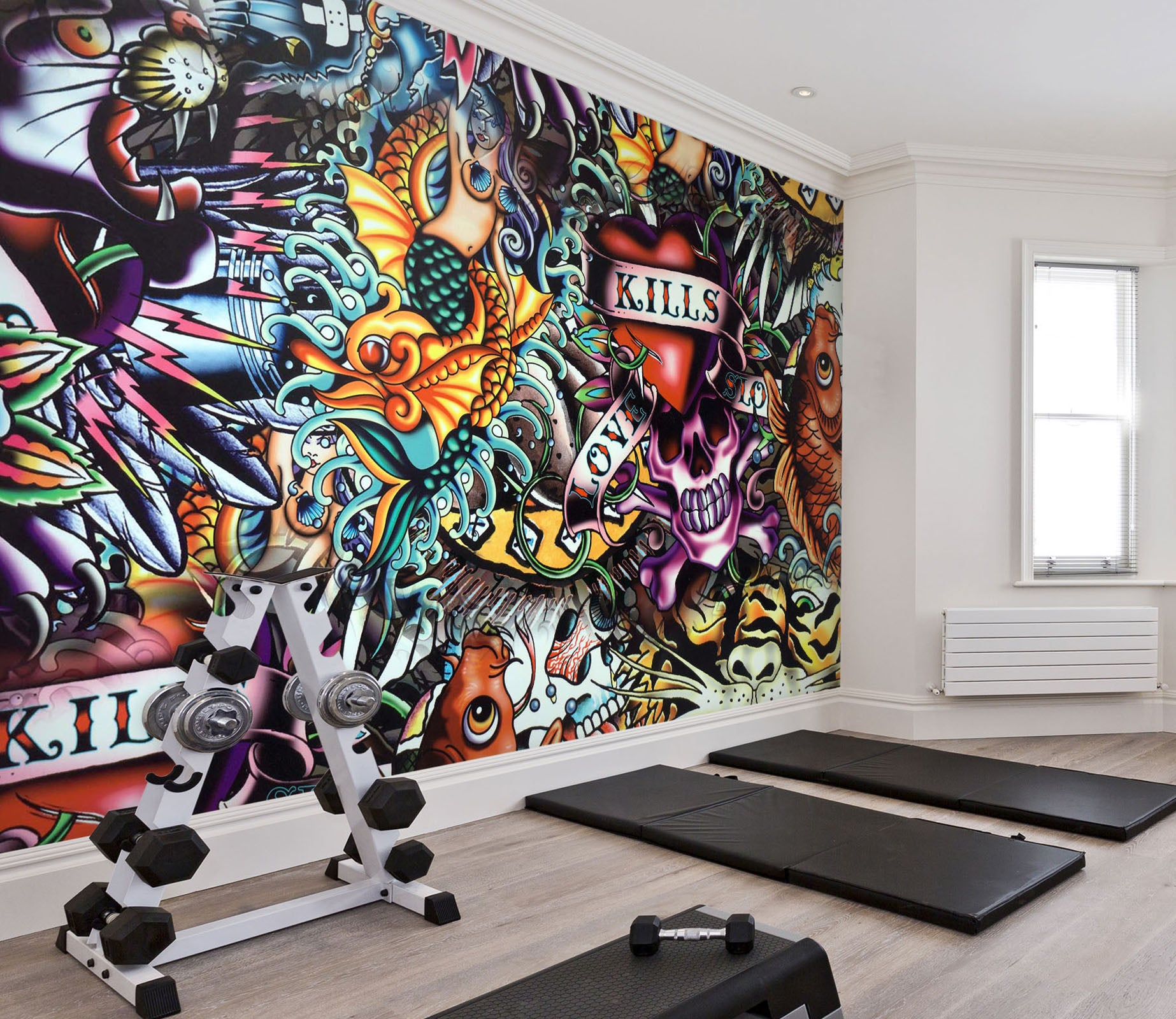 3D Monster Skull 109 Wall Murals