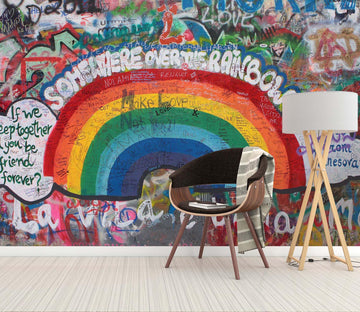 3D Graffiti Rainbow 109 Wall Murals