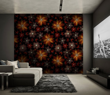 3D Yellow Flower 080 Assaf Frank Wall Mural Wall Murals
