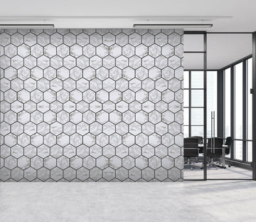 3D Honeycomb 037 Marble Tile Texture Wallpaper AJ Wallpaper 2