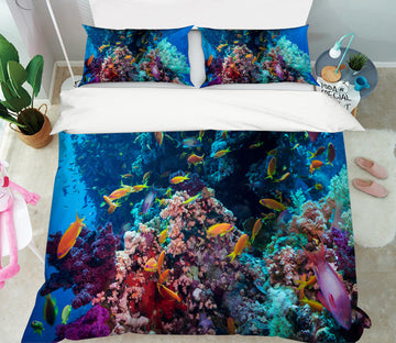 3D Coral Sea 21055 Bed Pillowcases Quilt