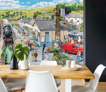 3D The Village Station 1074 Trevor Mitchell Wall Mural Wall Murals