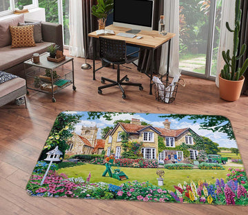 3D The Vicarage 1120 Trevor Mitchell Rug Non Slip Rug Mat