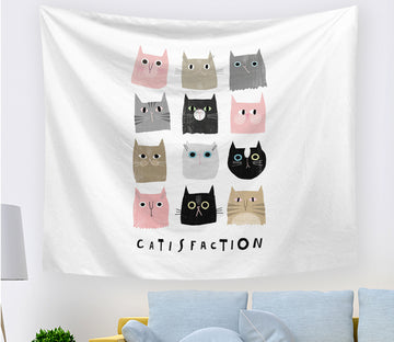 3D Cute Cat 2400 Tapestry Hanging Cloth Hang