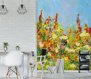 3D Colored Wild Flowers 268 Allan P. Friedlander Wall Mural Wall Murals