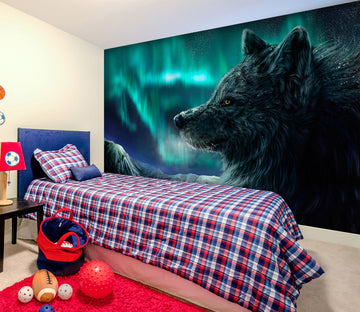 3D Black Wolf 197 Wall Murals