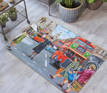 3D WPC On Ludgate Hill 1128 Trevor Mitchell Rug Non Slip Rug Mat