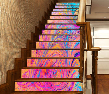 3D Rainbow Vortex 6465 Marble Tile Texture Stair Risers Wallpaper AJ Wallpaper