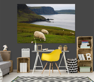3D Steppe Sheep 120 Jerry LoFaro Wall Sticker