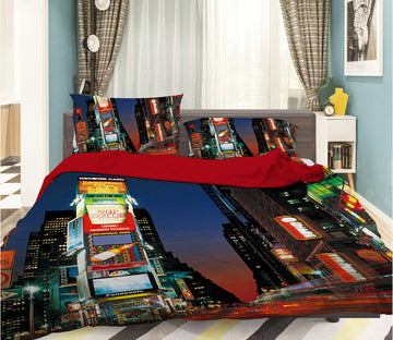 3D Mall Traffic 050 Bed Pillowcases Quilt