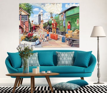 3D The Train Driver 079 Trevor Mitchell Wall Sticker