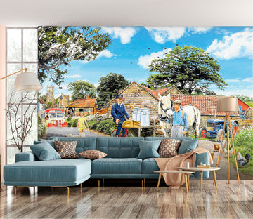 3D Post For The Farm 1046 Trevor Mitchell Wall Mural Wall Murals